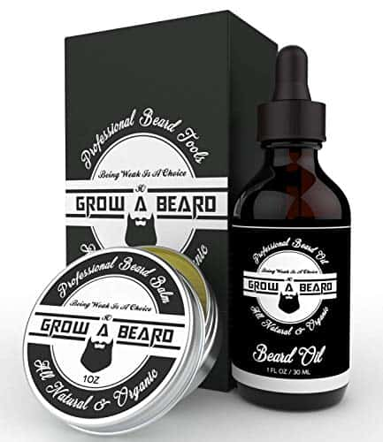 Beard Brush, Oil, Balm, Comb Grooming Kit for Men ...